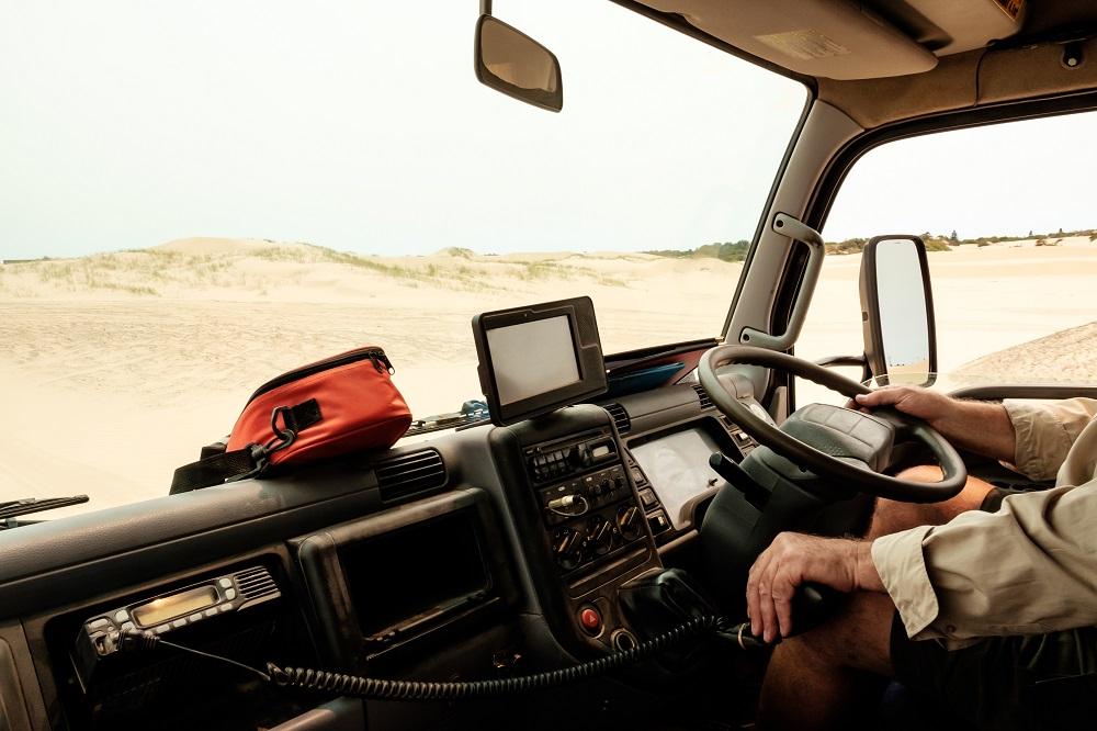A truck driver in remote locations is classified as a lone worker